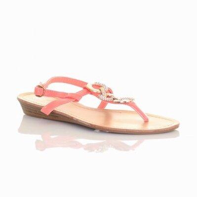 7cc2dff6f956 Sandále v marhuľovej farbe H027